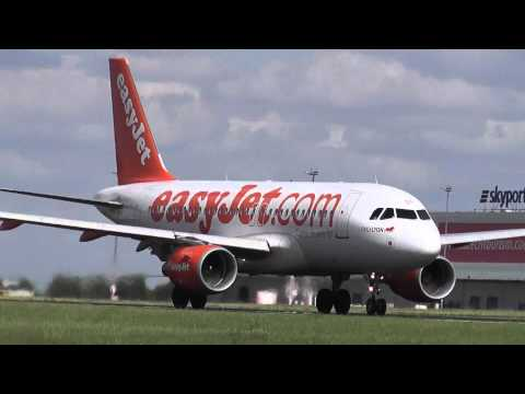 EasyJet Airline -  take-off Prague Airport LKPR