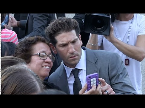 Jon Bernthal greets fans at Fury Photocall in Paris