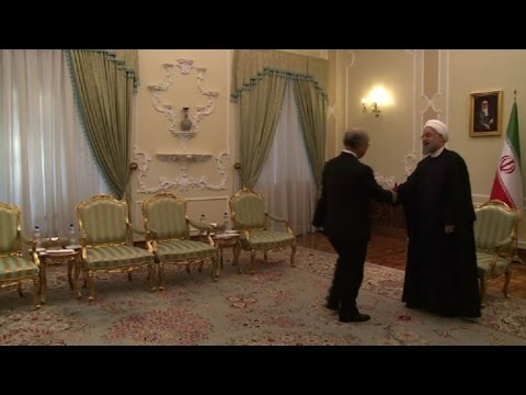 IAEA chief lands in Tehran and meets Iran's president