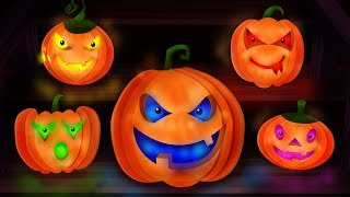 Five Little Pumpkins | Scary Childrens  Nursery Rhymes Video For kids