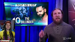 WWE Smackdown 2/6/18 Daniel Bryans FIRST EVER Top 10 List