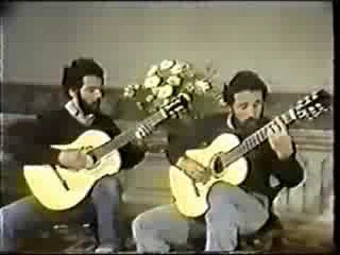 Rare Classical Guitar Video: Assad Brother -