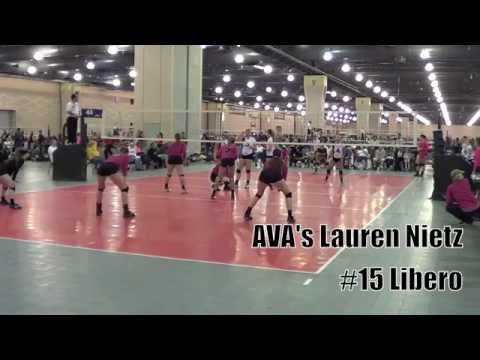 Ava's Lauren Nietz (#15 Libero) Neq 2014 Highlights video