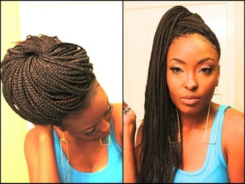Super Easy Ways I Style My Box Braids (Requested) - YouTube