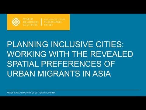 Planning Inclusive Cities - Annette Kim