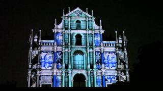 光影大三巴 projection mapping at Macau