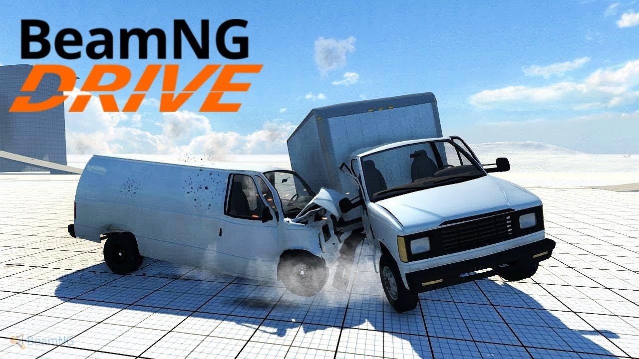 beamng drive alpha   crash tests 5   youtube