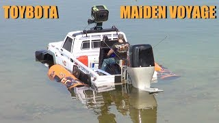 RC ADVENTURES - TOYBOTA - BBC TOP GEAR TRUCK BOAT TRiBUTE - Toyota LC70 UTE w/ Oversized Outboard