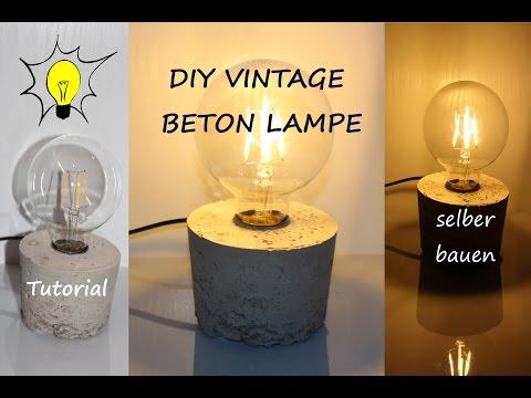 DIY DESIGNER VINTAGE BETON LAMPE SELBER BAUEN (Tutorial)