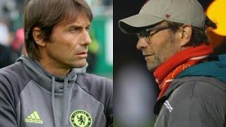 Jurgen Klopp vs Antonio Conte Crazy Goal Celebrations  | Chelsea vs Liverpool | 16/09/16