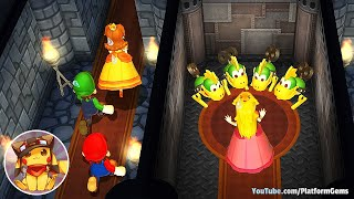 Mario Party 9 All Free-For-All Minigames - Mario vs Peach vs Luigi vs Daisy (Very Hard)