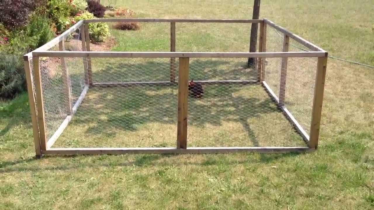 Canadian Outdoor Easy To Build Rabbit Run Youtube