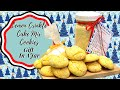 LEMON CRINKLE CAKE MIX COOKIES!! GIFT IN A JAR!!
