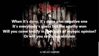 Slipknot  Sarcastrophe Lyrics