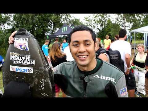 Abdil Mahdzan wins street luge at Kozakov Challenge 2012
