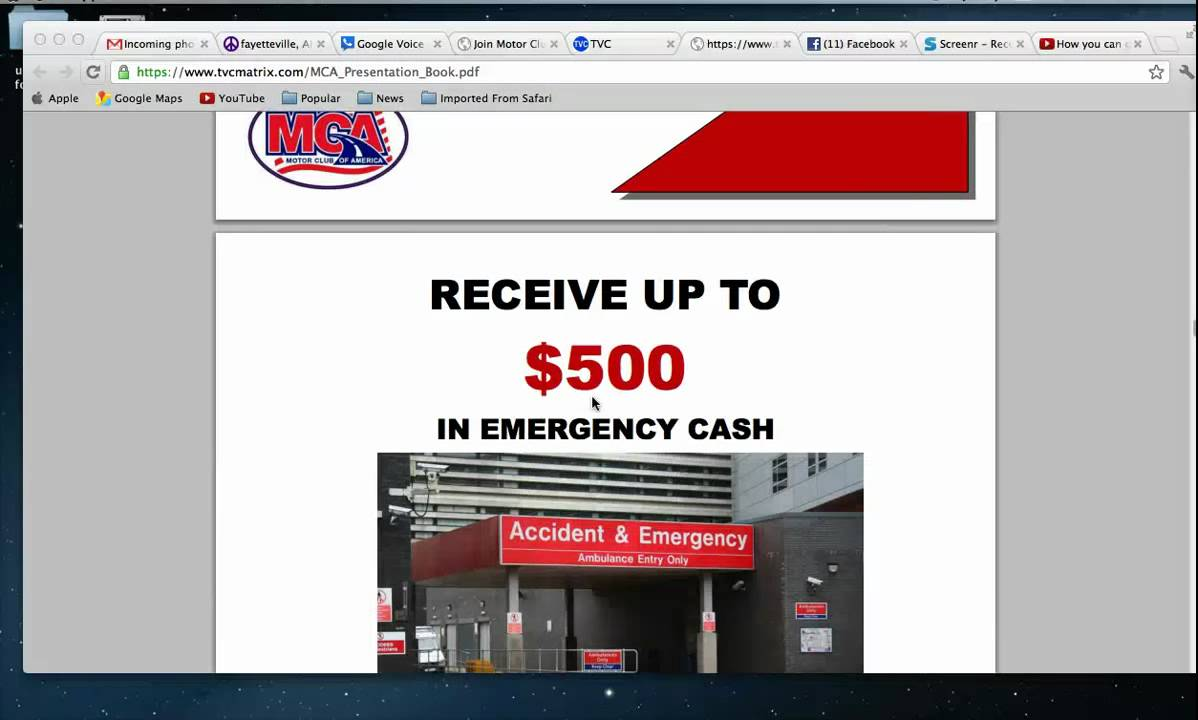 Motor club of american scam compensation and benefit for Motor club company scam