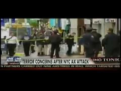 October 24 2014 Breaking News Axe Man with Islamic extremist leanings attacks NY police