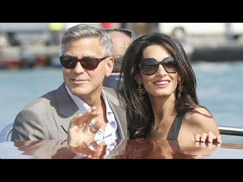 George Clooney et Amal Alamuddin à Venise pour se marier