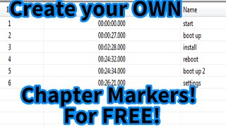[Free] Add chapters to your mp4 videos without ReRendering! (chapter titles too!)