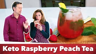 Keto Raspberry Peach Tea