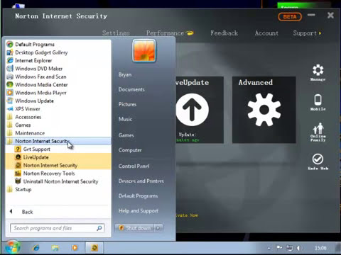 How to Uninstall Norton Internet Security 2013 (BETA)