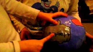 Continents Song with Homemade Papier Mache Globe