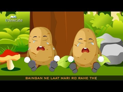 Edewcate Hindi Rhymes - Aloo Kachaloo Beta Kahan gaye the