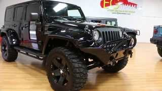 "Review of Lifted 2013 Jeep Wrangler Unlimited Show Truck For Sale~Custom Sound~20"" XD Rims"