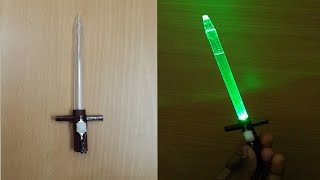 How to Make a Mini LED Glow Sword out of Old Ballpoint Pen