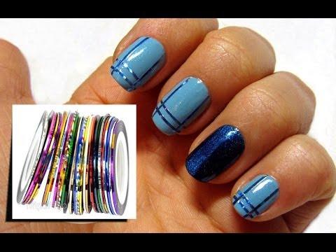 Дизайн ногтей / Скотч-лента для ногтей / NailArt / полоски на ногтях