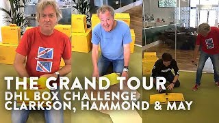 The Grand Tour — 📦 DHL Box Challenge (Medium) w/ Clarkson, Hammond & May