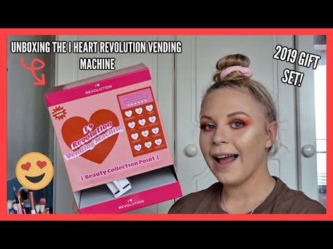 UNBOXING THE I HEART REVOLUTION VENDING MACHINE | CHRISTMAS GIFT SET 2019