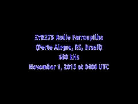 ZYK275 Radio Farroupilha (Porto Alegre, Rio Grande do Sul, Brazil) - 680 kHz