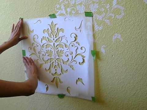 allover wall stenciling youtube. Black Bedroom Furniture Sets. Home Design Ideas