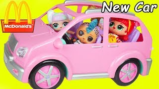 LOL Surprise Unicorn Dolls Buy New Car for School Supplies + McDonald's Dolphin Happy Meal Toys