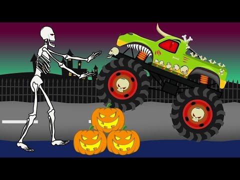 Monster Truck Halloween | Vehicles For Kids | Bajki Dla Dzieci - Monster Truck