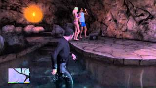 GTA 5: Playboy Mansion Parties With Naked Girls, Drinks, Hef, Music, Pool