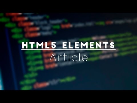 HTML 5 Article Element