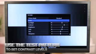 How to Calibrate your HDTV (Part 3 of 4): Adjusting your HDTV -- With a DVD Calibration Disk