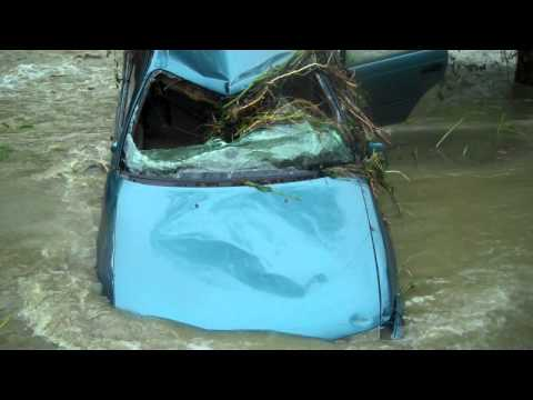 Grafton Resident safe after being trapped in Floodwater Bryce LeVan Cushing Video