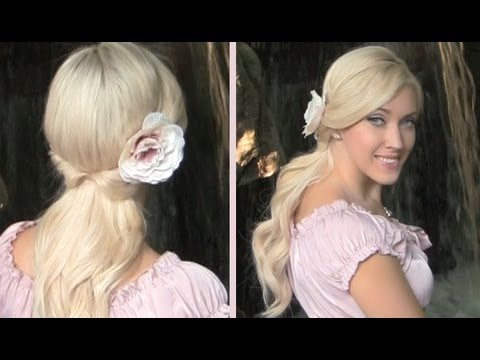 Cute Easy Everyday Half Up Half Down Hairstyle With Curls For Medium Long Hair