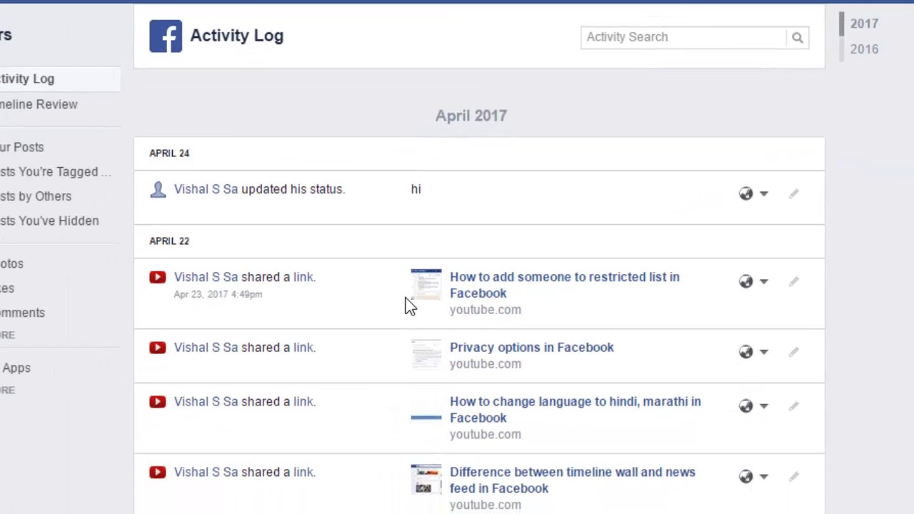 How to make certain activity private in Facebook - YouTube