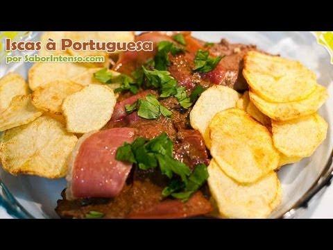 Receita de Iscas à Portuguesa