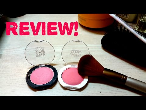 HONEST REVIEW: Maybelline cheeky glow and color show blushes