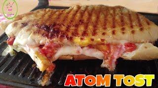 Evde Atom Tost Nasıl Yapılır/Şip Şak Hazırlanan Pizza Lezzetinde Doyurucu Atıştırmalıklar