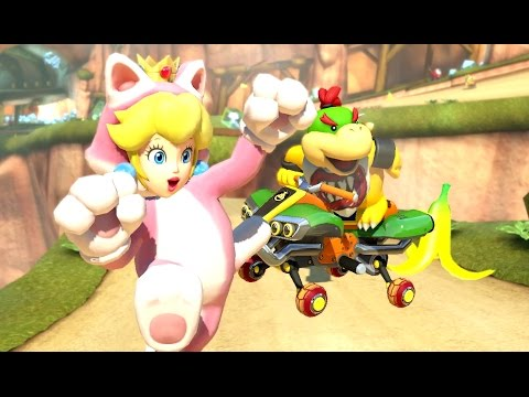 Mario Kart 8 Deluxe - 200cc Flower Cup (Bowser Jr. Gameplay - New Character)