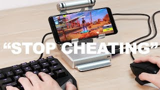 I tried out for a MOBILE Fortnite Clan while CHEATING...