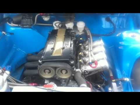 Honda B16 Reverse Rotation - YouTube