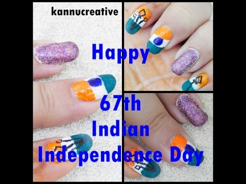67th Indian Independence Day nail art
