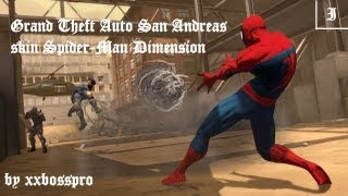 skin spiderman dimension + parkour mod gta sa